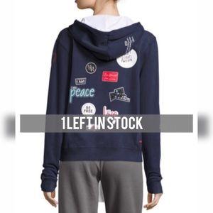 NEW Navy peace love world zip up hoodie
